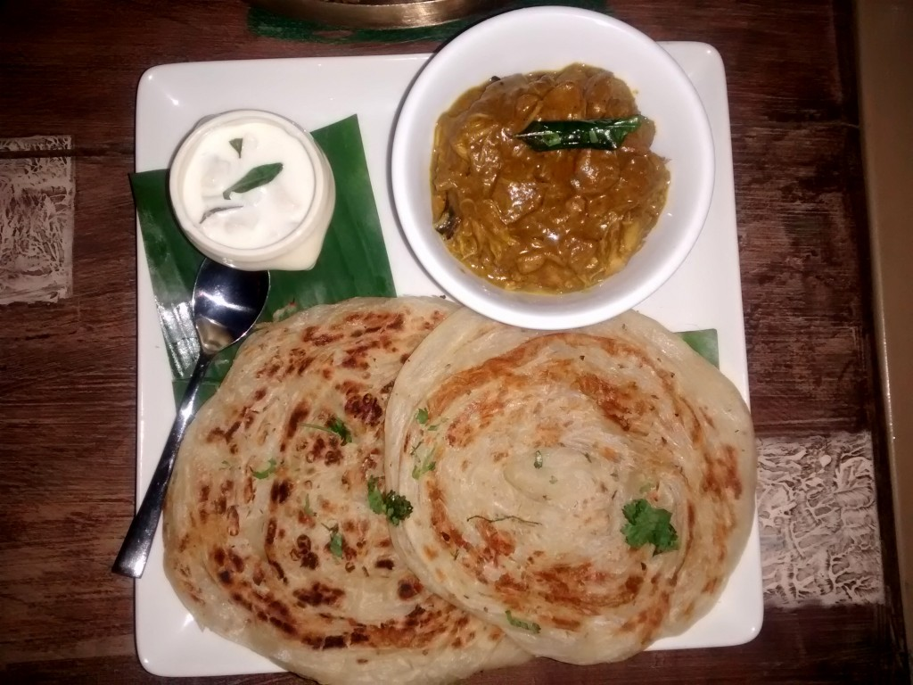 Mutton Gosht with Malabar Parantha
