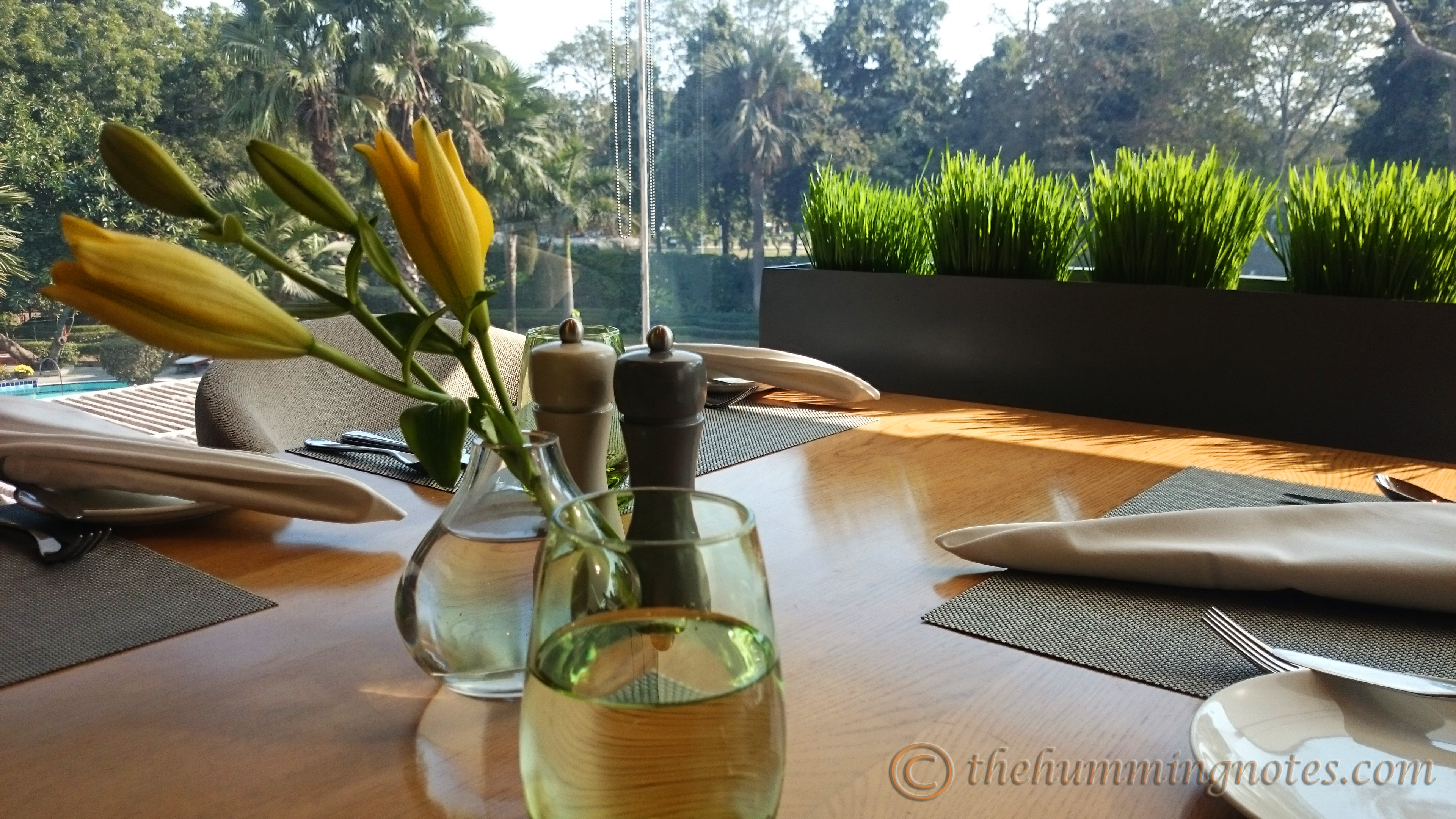 Tamra offers a beautiful view to its guests. A perfect location to enjoy your lazy Sunday brunches