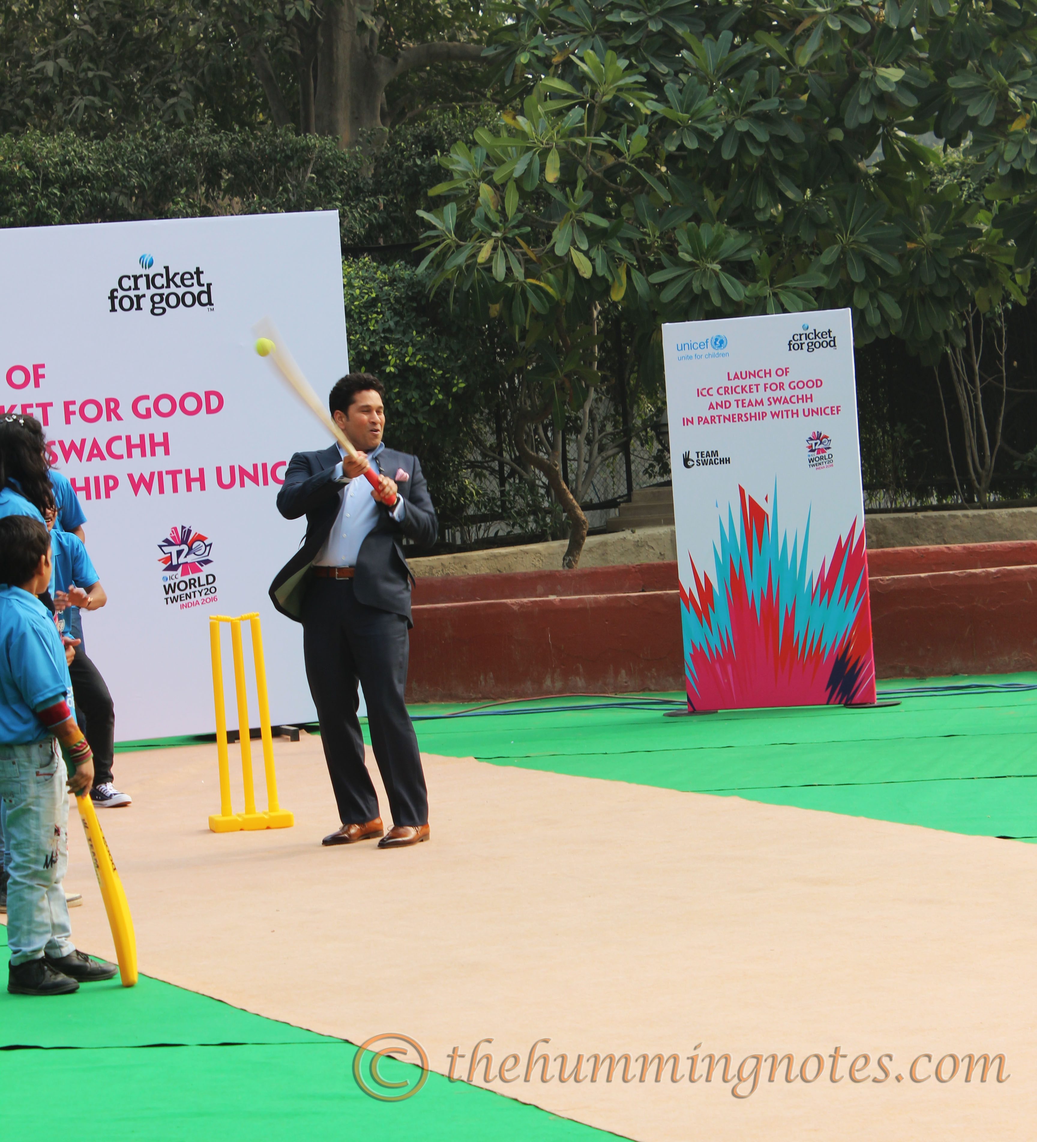 ICC Cricket for Good_Sachin bats