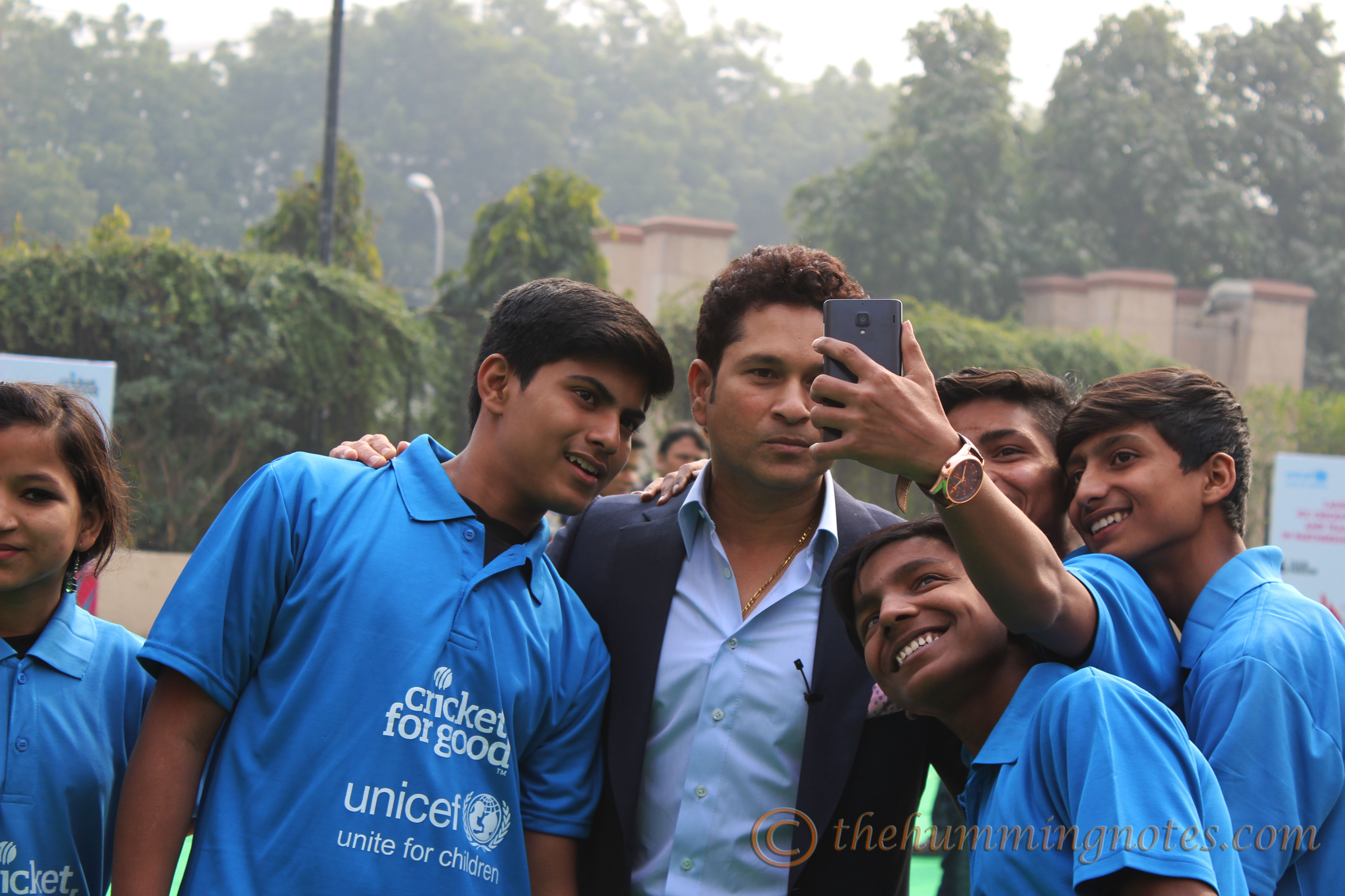 ICC Cricket for Good_selfie with kids