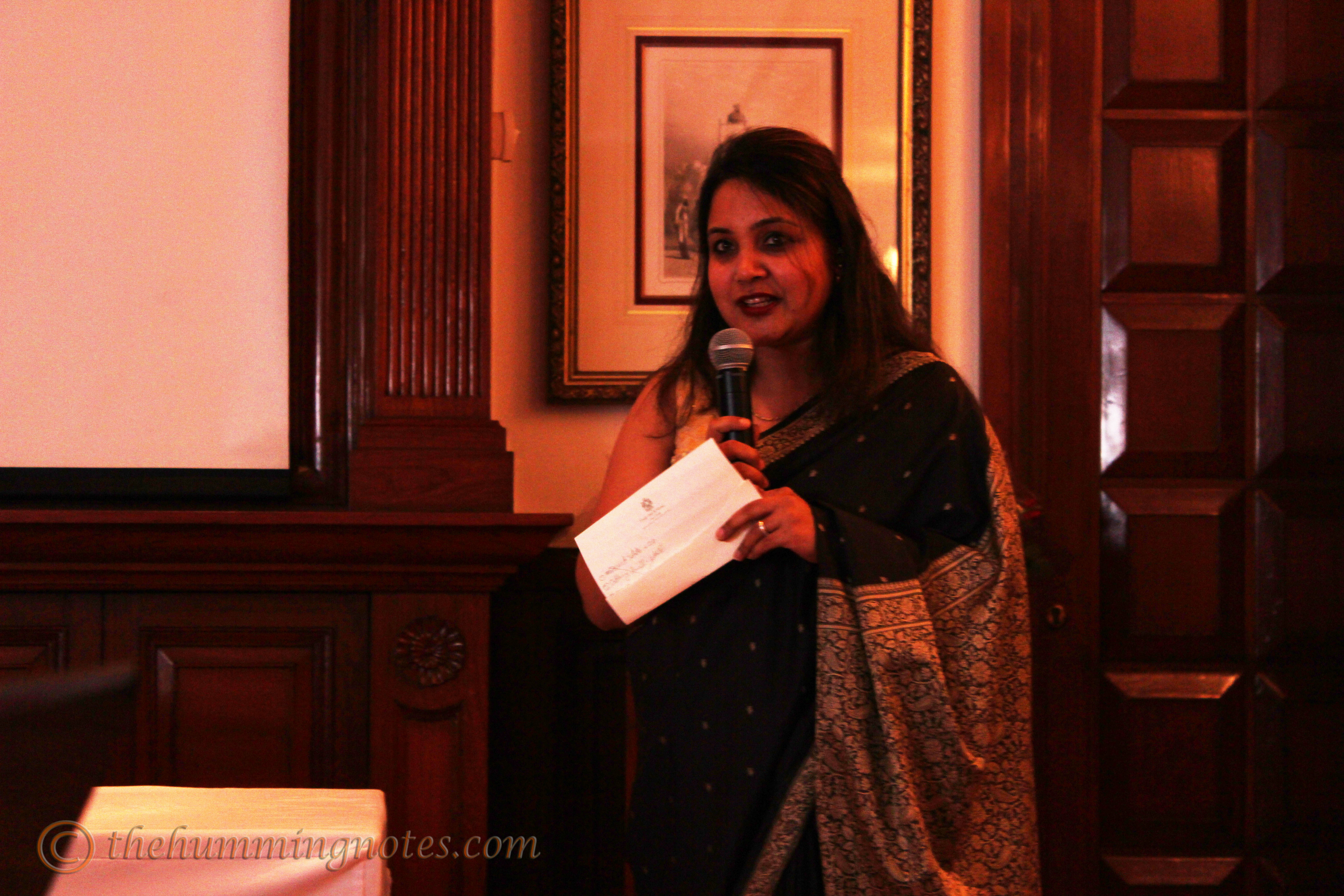 Ruchi Jain, member of The Imperial Ladies' Club welcoming the guests
