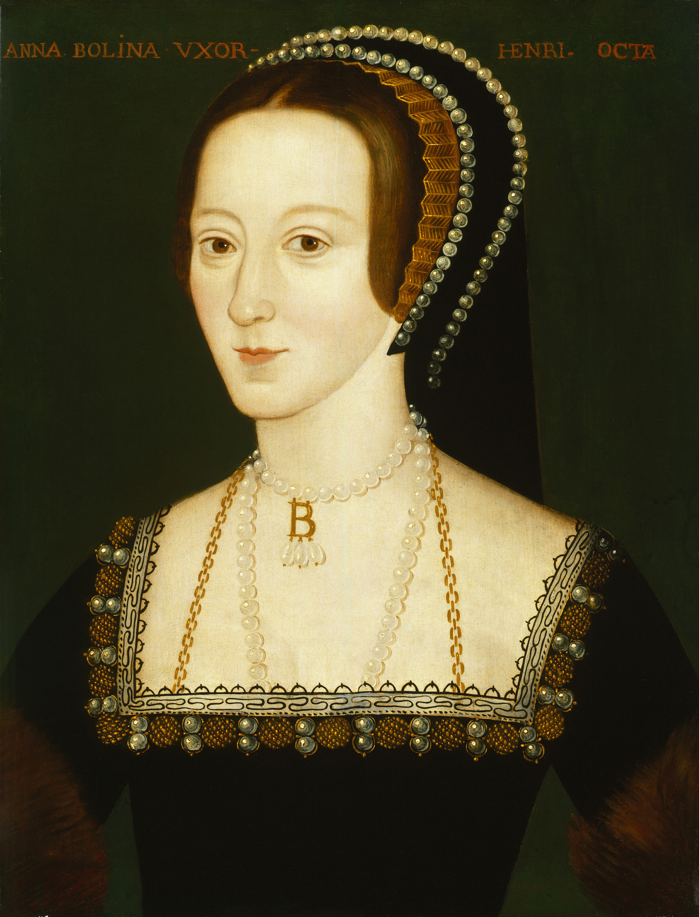 Queen of England and the second wife of King Henry VIII; Image source