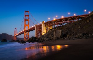 Golden Gate Bridge, the landmark of San Francisco; Image credit
