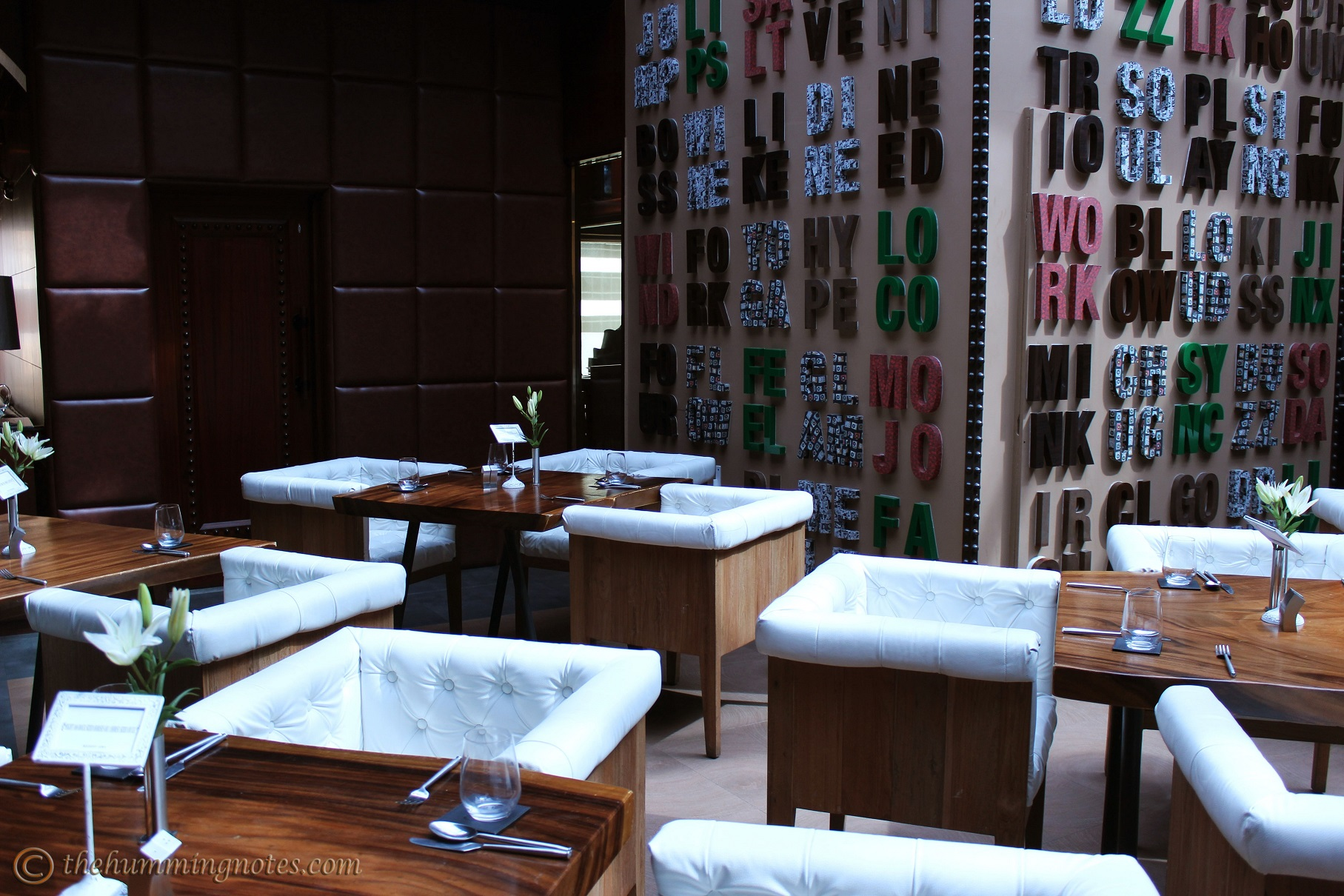 Dining area at Niche, Connaught Place