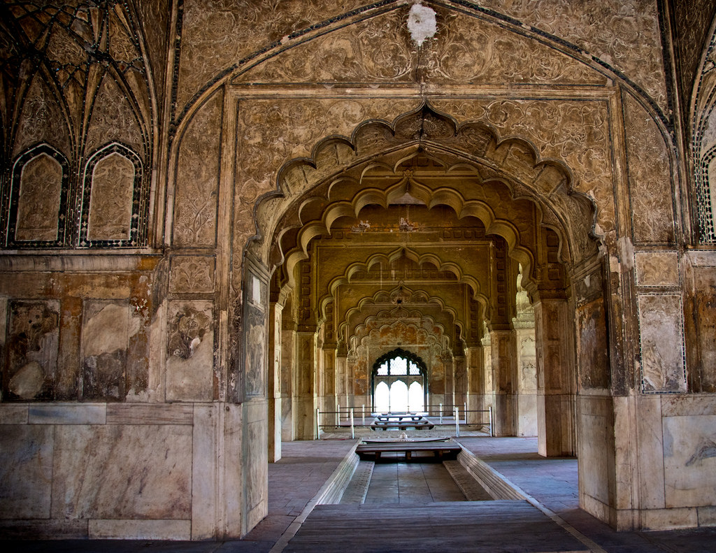One of the intricately carved wall in Red Fort; Image credit