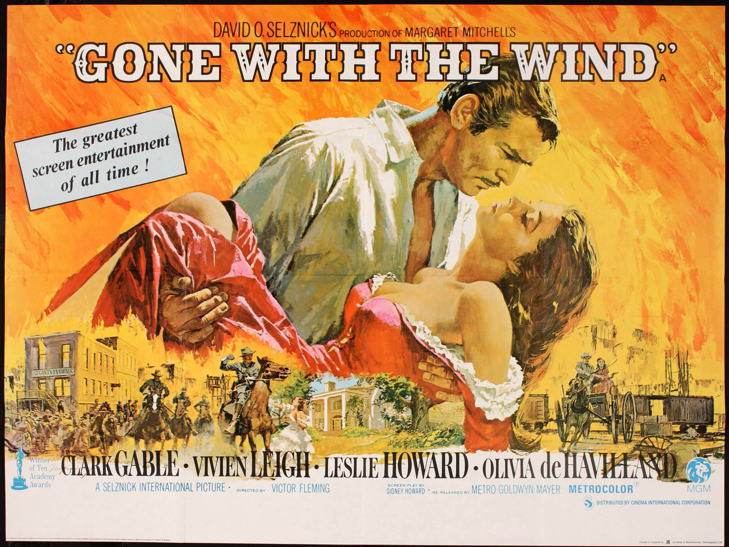 Gone With The Wind movie poster; Image credit