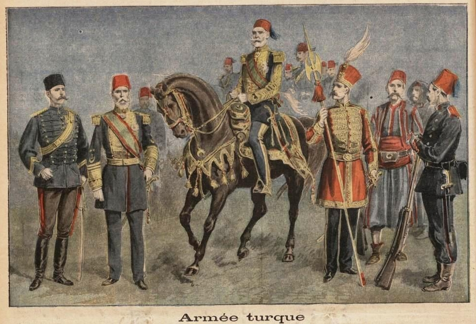 Ottoman Army in 1897; Image credit