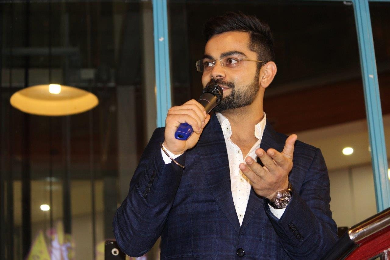 Virat Kohli at the launch of Comfort food