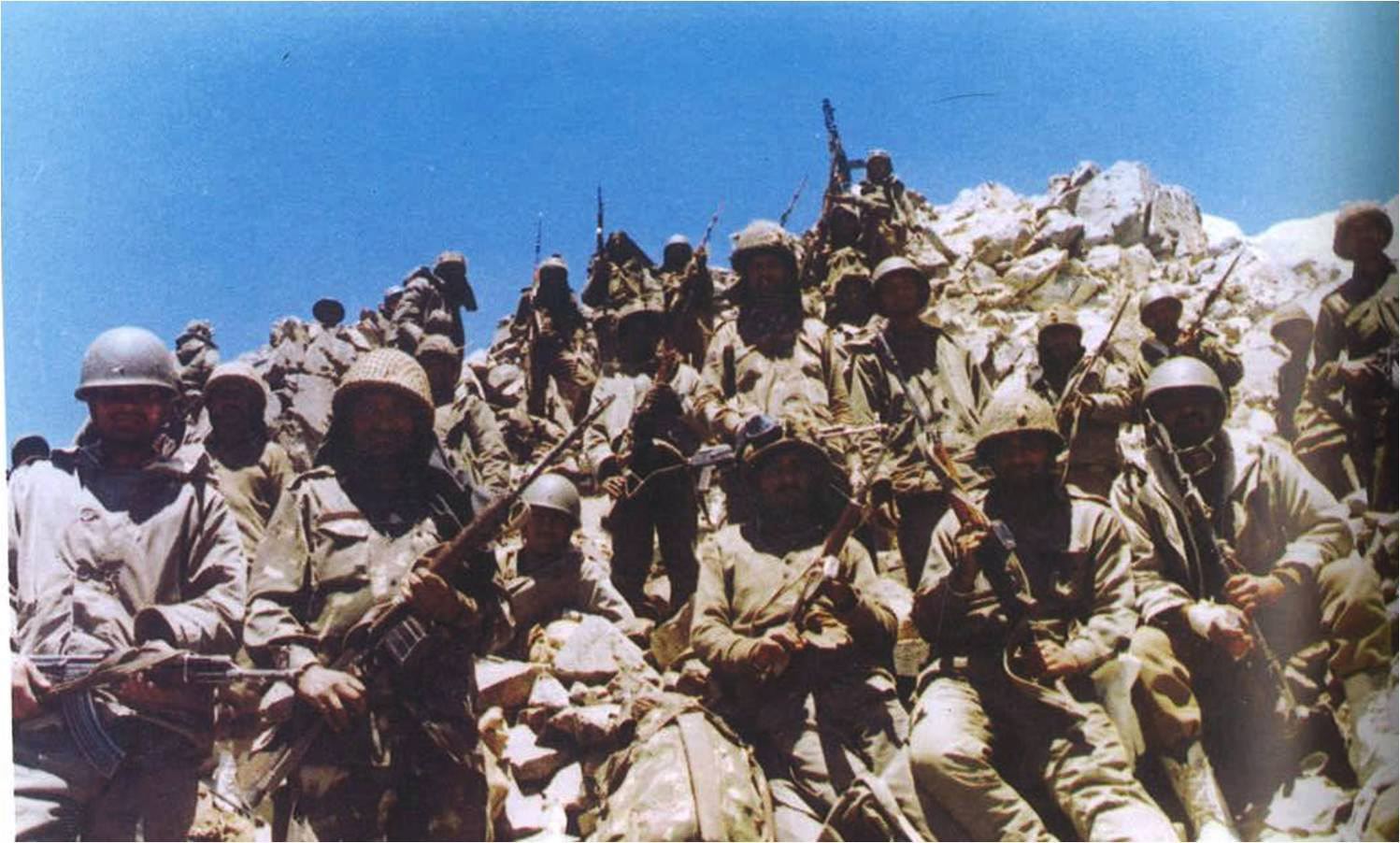 Indian soldiers in Batalik during the Kargil War; Image credit