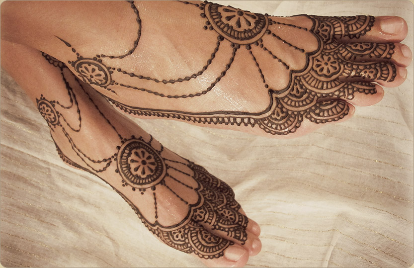 Mehndi Designs For Feet : Stunning feet mehndi designs for karva chauth the humming notes